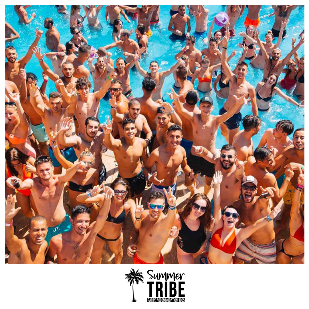 Pool party in Malia
